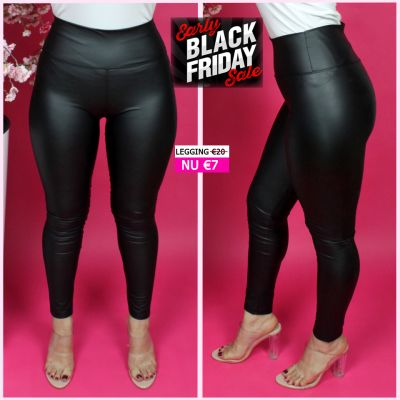 Musthave Legging Leather Look Mat DM5299