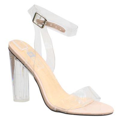 Beauty Kim K Glass Heels Nude 99-62