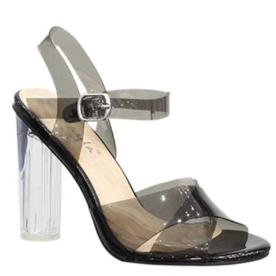 Black Transparant Glass Heel LL6529