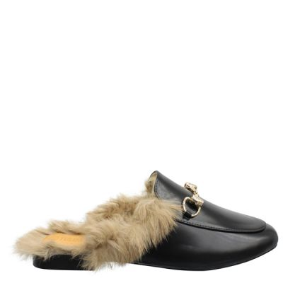 Guc Inspired Slippers Fur Lined Black R1P123-19
