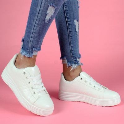 Alexander Croco High Sole S16 WHITE Sneaker